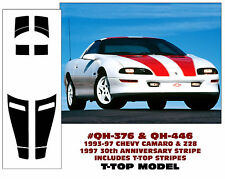 QH-376 QH-446 1993-97 CHEVY CAMARO & Z28 T-TOP RACING STRIPE - 30TH ANNIVERSARY