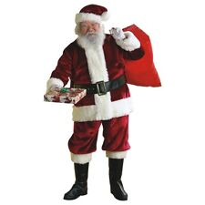 Crimson Regency Plush Santa Suit Claus Costume Christmas Fancy Dress
