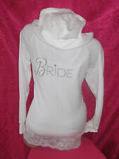 VICTORIAS SECRET SEXY LITTLE BRIDE DIAMOND RING BLING HOODIE SWEATSHIRT JACKET M