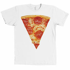Giant Pepperoni Pizza Slice AMERICAN APPAREL T Shirt Pizza Lover NEW
