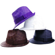 Stitch Lined Light Poly Silk Casual Fashion Fedora Trilby M/L J2R JRJ079 Korea