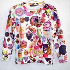 Fun Ice cream Donut Candy Pullover Sweatshirt 3d snacks graphic Casual shirt top