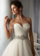 2015 Noble Sweetheart Beaded Tulle Wedding Dress  Bridal Ball Gowns Size 4-16