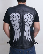 THE WALKING DEAD GOVERNOR - DARYL DIXON ANGEL WINGS LEATHER VEST JACKET - BNWT