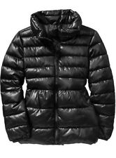 NEW GIRLS XS 5 S 6-7 OLD NAVY BLACK PUFFER COAT FROST FREE JACKET NWT