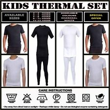Kids Boys Girls Thermal T-Shirt - Base Layer Warm Long Johns Winter Thermal Set