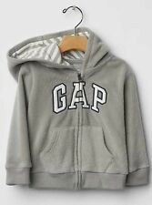 NEW BABY GAP KIDS BOYS ARCH LOGO PRO ZIP FLEECE HOODIE SWEATSHIRT  12-18 18-24