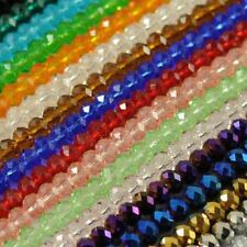 Faceted Crystal Rondelle Loose Charm Glass Beads Jewelry 21 Colors 6mm 8mm