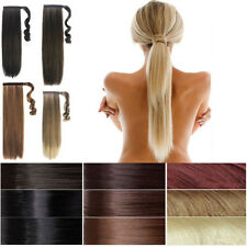 sale mix blonde brown Halloween thick curly Ponytail Clip in Hair Extensions B78