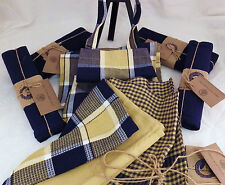 NEW- 2 aprons, 3 towels, 4 placemats and 4 napkins –free ship -Over and Back