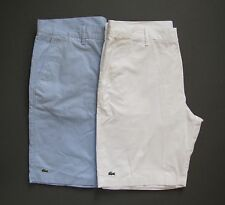 LACOSTE Mens Shorts Classic Fit Bermuda Twill Flat Front Size 36 38 NWT Genuine