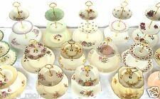 2 & 3 Tier Vintage Plate Cake Stands High Tea Colclough Tuscan Royal Vale more