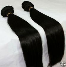 Virgin Brazilian Straight Unprocessed Human Hair Weave Extension weft Bundle 6A