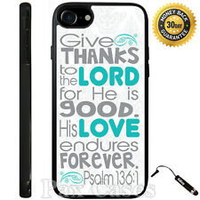 Bible Verse Psalm 118-1 Case For iPhone 4/4S/5/5S/5C/6/6+Galaxy S4/S5-RUBBER
