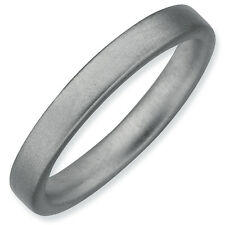 Satin Band Ring .925 Sterling Silver 3.25mm Size 5-10 Stackable Expressions