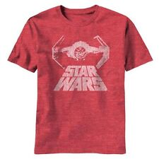 Star Wars T-Shirt Darth Vader's Tie Fighter - Distressed Red New NWT - All Sizes