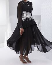 Black/Silver Jacket Dress Mother of the Bride Formal Wear  retail: $179 NWT