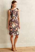 $158 ANTHROPOLOGIE Quilted Floral Tema Dress by Tabitha SZ 12 NWTS!!