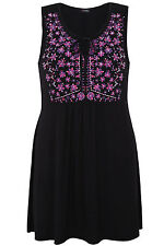 Yoursclothing Plus Size Womens Print Bib Front Longline Top With Back Tie