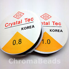 Crystal Tec cord - Black silicone stretch elastic thread - Choice of sizes
