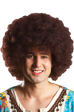 Brand New 1970s Disco Fever Party Afro Costume Wig (Brown)