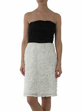 JS Collection House Fraser black white rose evening dress UK 8 10 New rrp £150