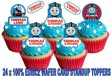 EDIBLE THOMAS THE TANK ENGINE TRAIN BIRTHDAY WAFER STAND UP CAKE CUPCAKE TOPPERS
