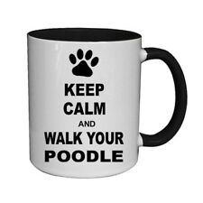 Keep Calm & Walk Your Poodle Ceramic Mug dog pet coffee tea cup new gift