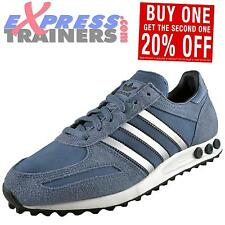 Adidas Originals Mens LA Trainer Suede Leather Retro Trainers Slate *AUTHENTIC*