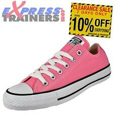 Converse Womens Junior All Star Lo Chuck Taylor Trainers Pink AUTHENTIC