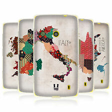 HEAD CASE PATTERNED MAPS SILICONE GEL CASE FOR NOKIA LUMIA 520