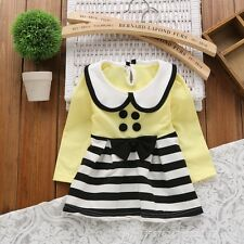 Baby Clothing dress Girls Newborn striped cute dress Long sleeve Baby Dresses
