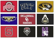 New NCAA College Team Logo Themed Man Cave Room Floor Rug Carpet Door Bath Mat