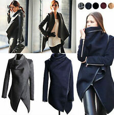 Fashion Lady Slim Casual Trench Coat Long Wool Jacket Parka Overcoat