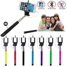 Selfy Selfie Stick Wired Monopod Remote Shutter cell Phone Holder Gopro iphone