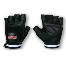 Grizzly Fitness Paws Leather Weight Training / Lifting Gloves (Black) - Crossfit