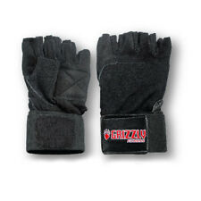 Grizzly Fitness Power Paw Wrist Wrap Lifting Gloves (Padded Black) - Crossfit