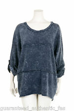 NEW IN!  LA BASS FUNKY FLARED WASHED BLUE TUNIC Sizes 2,3, UK 16-24 + size