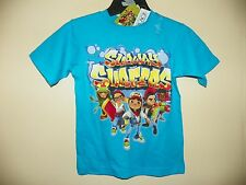 SUBWAY SURFERS/5 CHARACTERS-BOYS SIZE 4 THRU 14-LICENSED SHORT SLEEVE-NWT-TEAL