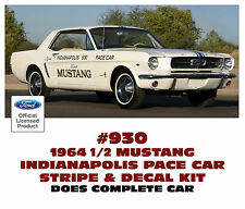 930 1964 FORD MUSTANG - INDIANPOLIS 500 PACE CAR - COMPLETE STRIPE KIT