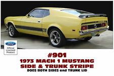 901 1973 FORD MUSTANG - MACH 1 SIDE AND TRUNK STRIPE KIT - FORD LICENSED