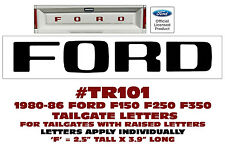 TR101 1980-86 FORD TRUCK - STYLESIDE TAILGATE LETTERS DECAL - F150 F250 F350