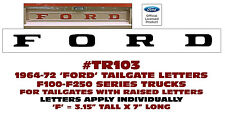 TR103 1964-72 FORD TRUCK - TAILGATE DECAL LETTERS - F100 F150 F250 SERIES