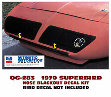 QG-283 1970 PLYMOUTH ROAD RUNNER - SUPERBIRD - NOSE BLACKOUT - DECAL
