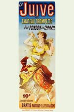 High Quality POSTER on Paper or Cotton Canvas.Decor Art.French Juive Dancer.4225