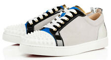 Authentic Christian Louboutin Louis Junior Spikes Suede Leather Sneakers - BNIB