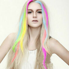 """New 24"""" Colored Colorful Clip On In Hair Extension Free tracking"""