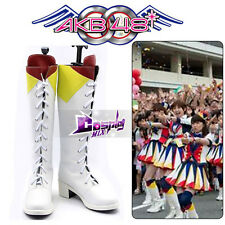 AKB48 Lovely Boots Anime Cosplay Custom Made Shoes Fortune Cookie in Love