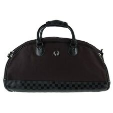 New Mens Fred Perry Black Bradley Wiggins Cotton Holdall Holdalls