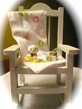 Rocking Chair Baby Shower Cake Topper With Choice of Miniatures